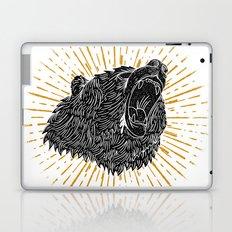 Bear Attack Laptop & iPad Skin