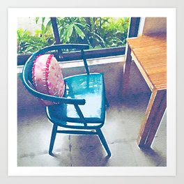 Coffie shop Art Print