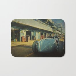 Vintage Racer in the Pits Bath Mat