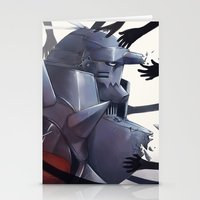 fullmetal Stationery Cards featuring FMA Ed & Al by x3uu