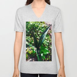 Aloe Vera at the top of Mount Monserrate in Bogota, Colombia Unisex V-Neck
