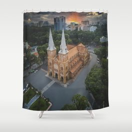 Notre-Dame Cathedral Basilica of Saigon Shower Curtain