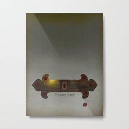Treasure Island Minimal Poster Metal Print
