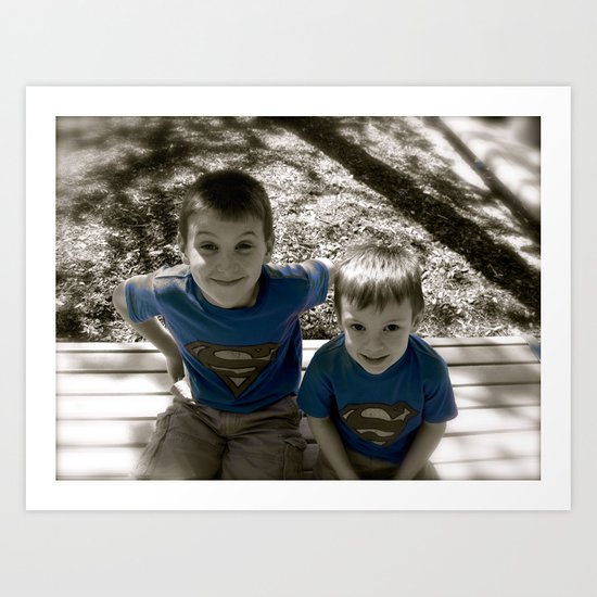 SUPER BOYS!! Art Print