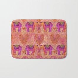 Elephants in Love with heart Bath Mat