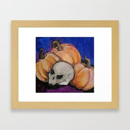 pumpkin harvest Framed Art Print