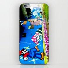 Graffiti under the bridge (Mario Bros). iPhone & iPod Skin