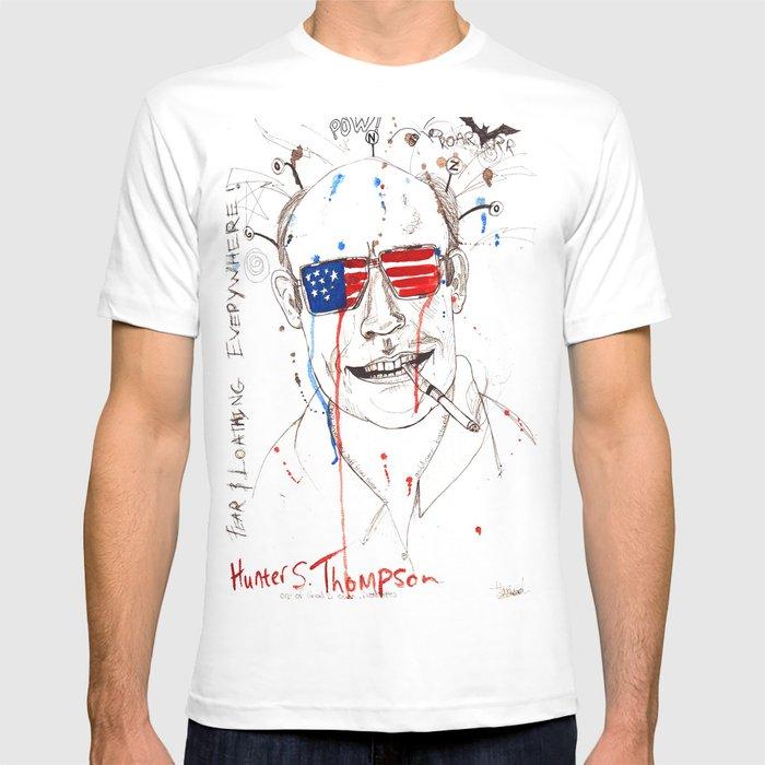 f9f080c3d26 Hunter S. Thompson T-shirt by maximezech