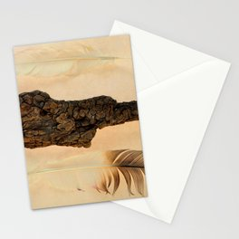 MUMMIFIED WOOD AND FEATHERS Stationery Cards