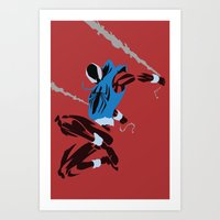 spider man Art Prints featuring Spider-Man - Scarlet Spider by TracingHorses