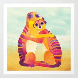 Shanti Sparrow: Jack and Rose the Meerkats Art Print