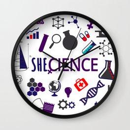 Shecience Wall Clock