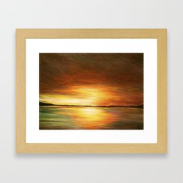 morning coffee and salt air Framed Art Print