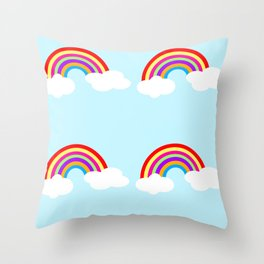See a Rainbow Throw Pillow