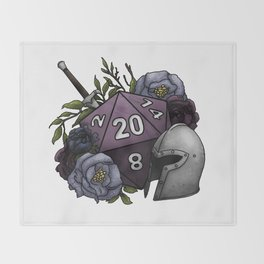 Fighter Class D20 - Tabletop Gaming Dice Throw Blanket