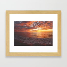 Inspirational Sunset by Aloha Kea Photography Framed Art Print