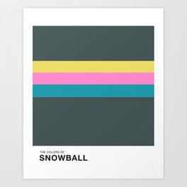 The Colors of - Snowball- Simpsons Art Print