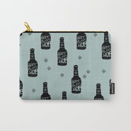 There's always hope beer bottle hop love ocean green Carry-All Pouch