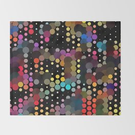 forest of dots Throw Blanket