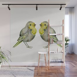 Little Yellow Birds Wall Mural