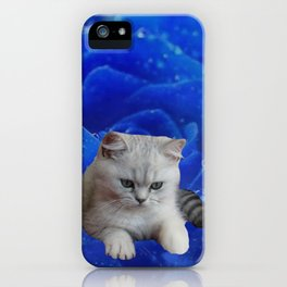 Cat and Rose iPhone Case
