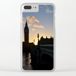 London Sunset Silhouette Clear iPhone Case