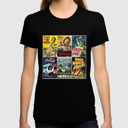 50s Sci-Fi Movie Poster Collage #1 T-shirt