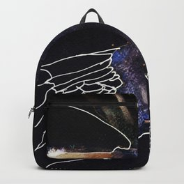 Sky Woman in black Backpack
