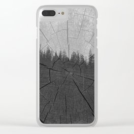 Timber Clear iPhone Case
