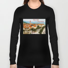 Cityscape of Trogir Croatia Long Sleeve T-shirt