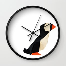 Origami Puffin Wall Clock