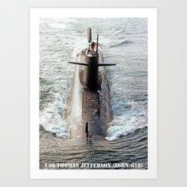 USS THOMAS JEFFERSON (SSBN-618) Art Print
