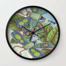Double Dragon Flys Wall Clock