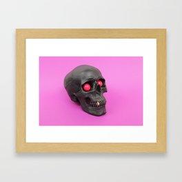 Gum Skull Framed Art Print