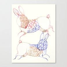 Bunny pattern Canvas Print