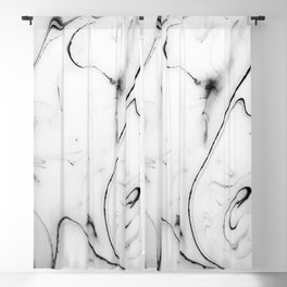 Elegant white marble image Blackout Curtain