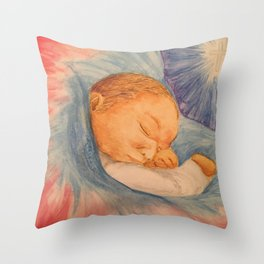 Baby Jesus Christmas Throw Pillow