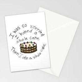 I Baked a Whole Cake Stationery Cards