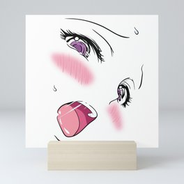 Ahegao Face Mini Art Print