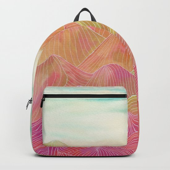 Lines in the mountains XVIII Backpack