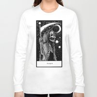 tarot Long Sleeve T-shirts featuring Death Tarot by Corinne Elyse