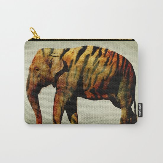 Tiger Elephant Carry-All Pouch