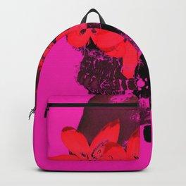 Skull with Flower Eyes Bright Backpack