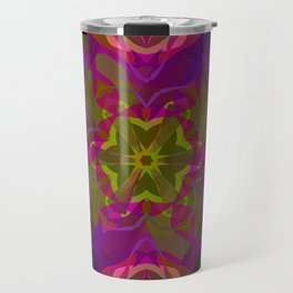 Crimson -purple kaleidoscope Travel Mug