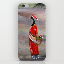 Merry Christmas. Funny image iPhone Skin