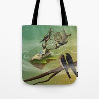 dreamcatcher Tote Bags featuring DREAMCATCHER by ANVIK