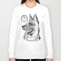 meat Long Sleeve T-shirts featuring Dog Meat by scoobtoobins