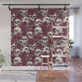 Rock and Roses Wall Mural