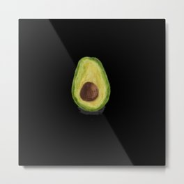 Lonely Avocado (Black) Metal Print