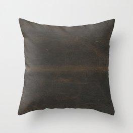 Vintage leather texture Throw Pillow